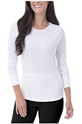 Fruit of the Loom Women's Soft Waffle Thermal Underwear Top, Arctic White, X-Large