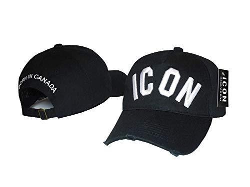 Perfectone Herren Baseball Cap, Icon Stickmütze Herren Fahrerin Baseball Cap, schwarz