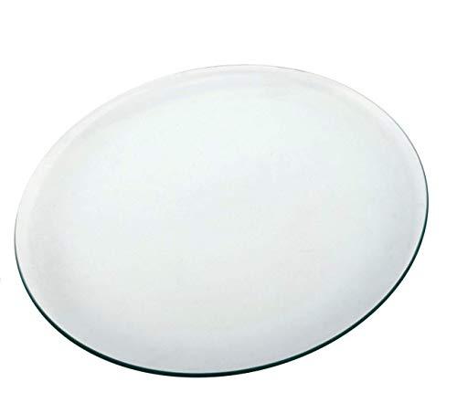 OKO Tablero 100 CM Superficie Redonda DE Mesa DE Cristal Vidrio Templado Material Vidrio