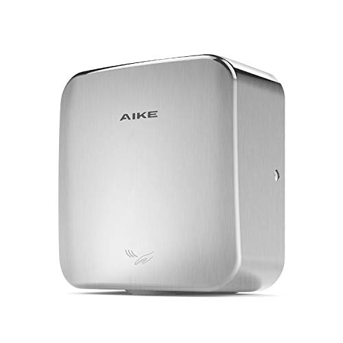 AIKE AK2800C Heavy Duty Automatic Commercial Hand Dryer 110V 1400W, Brushed Stainless Steel