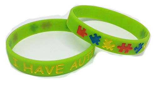 2x I HAVE AUTISM Awareness Wristbands Medical Alert Adult 8inch circumference