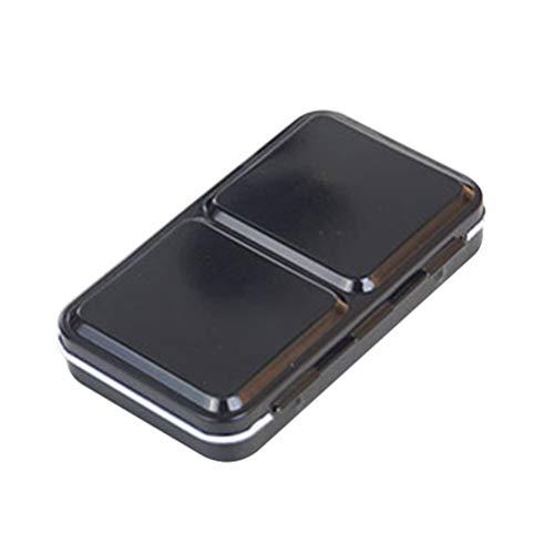 Healifty Caja de paleta de acuarela vacía 12 rejillas caja de pintura metálica caja de pigmento para acuarelas pinturas al óleo suministros de arte 12,2 x 7,3 x 2,3 cm