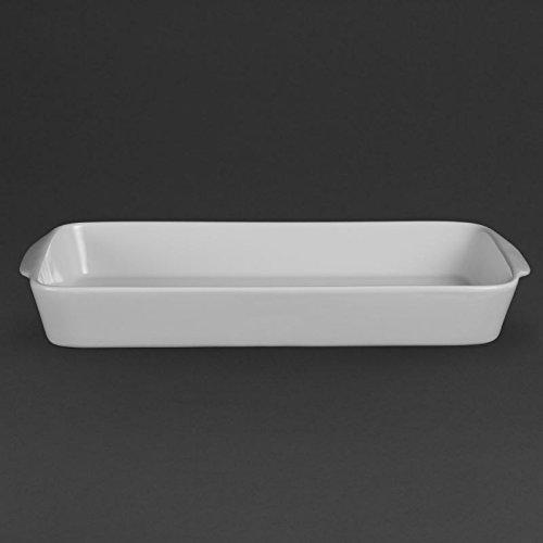 Olympia w417 Whiteware Plat à rôtir rectangulaire, blanc (Lot de 6)