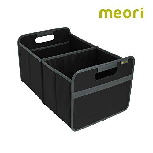 meori Faltbox Large in Schwarz – Stabile Klappbox L mit Griffen - die perfekte Allzweck Aufbewahrungslösung – Tragkraft bis 30 kg - A100001 - 32 x 50 x 27,5 cm