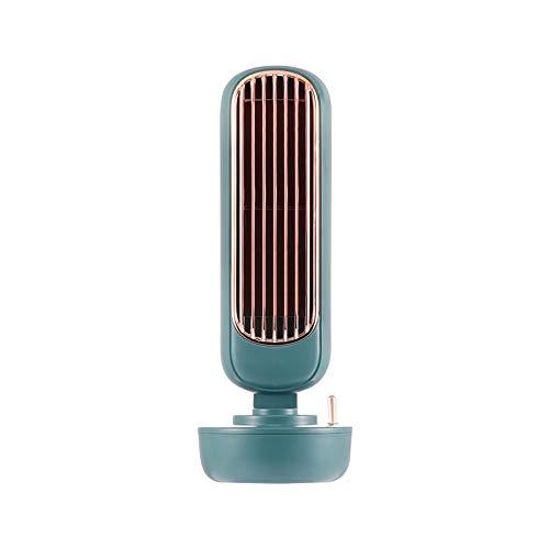 MZGN Ventilador De Torre De Humidificación Retro, Ventilador De Pulverización Creativo Dos En Uno, Ventilador De Humidificación Integrado USB De Escritorio
