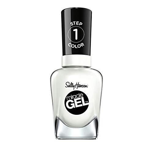 Sally Hansen Miracle Gel Nagellack ohne künstliches UV-Licht Get Mod, Weiß, mit intensiv glänzendem Gel-Finish, Nr. 450, (1 x 14,7 ml)
