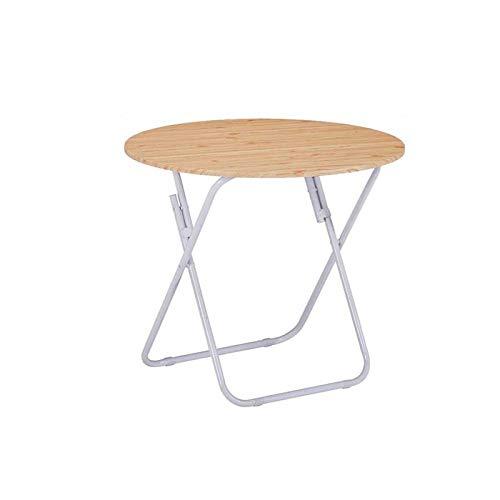 Huoqiin klaptafel, kleine woningtafel, eenvoudige kleine ronde tafel, draagbare eettafel voor buiten