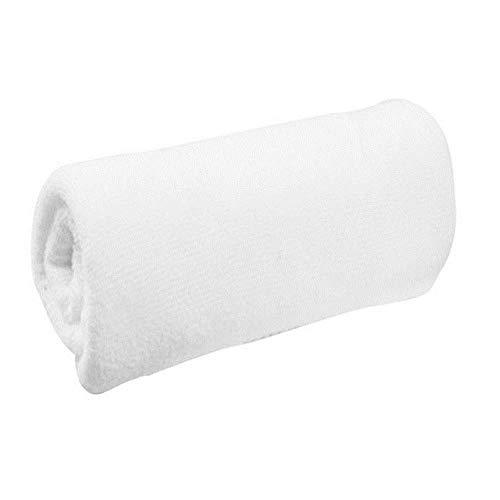 XCVB Portable Blanc Doux Débarbouillettes Serviettes À Main Microfibre Tissu Visage Serviette Hôtel Serviette De Bain30 * 60 cm, Blanc, 5 pièce
