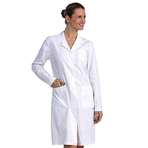 Fratelliditalia Camice Bianco Donna da Laboratorio Medico Lavoro in 100% Cotone Made in Italy in Tessuto Leggero Traspirante Camici Taglie Forti Donna 44 alla 64 (44)