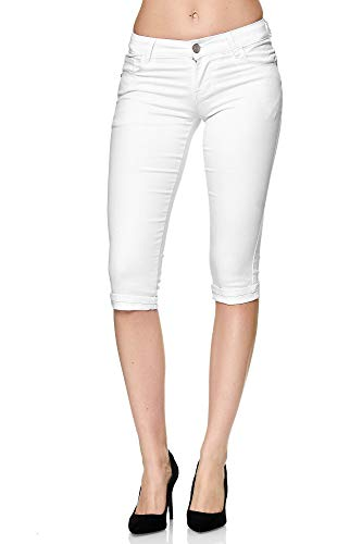 Elara Dames 3/4 Jeans Push Up Capri Chunkyrayan