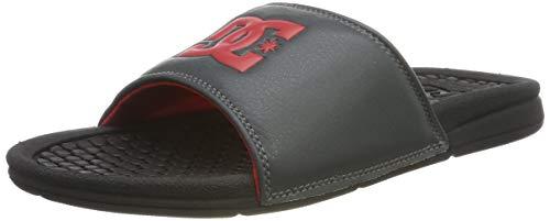 DC Shoes Bolsa, Zapatos de Playa y Piscina para Hombre, Gris (Black/Grey/Red XKSR), 40.5 EU