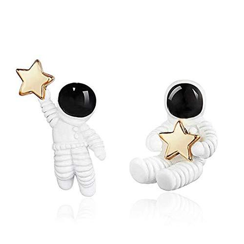 Pendientes de estrella de astronauta para niñas, niños, mujeres y hombres