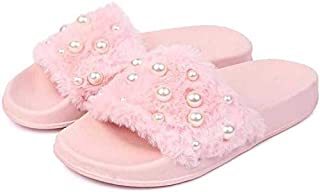 WMK Comfortable Stylish furr Slides Slipper for Women and Girls