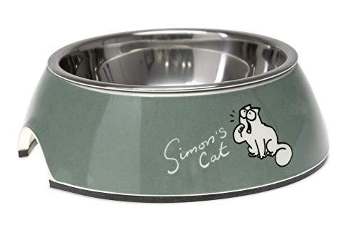 Simon's Cat by Karlie 522105 KATZENNAPF, 14X14X4,5 CM, 160 ML, grün
