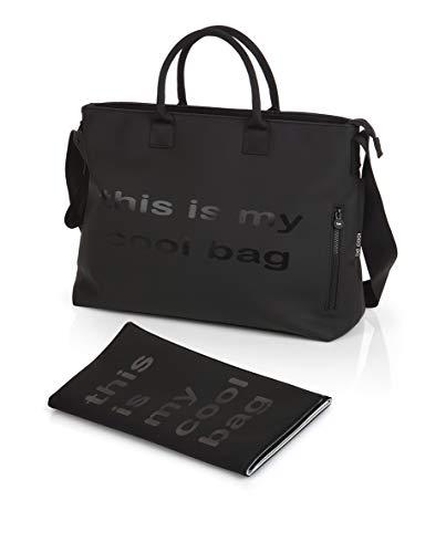 Be Cool Wickeltasche mit Wickelunterlage, schwarz