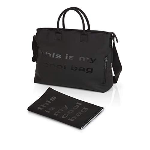 Be Cool Mamma Bag Borsa Fasciatoio con Ancoraggio Universale, Black