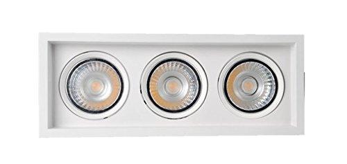 Lumitek Paraled 3 plafondlamp draaibaar, wit