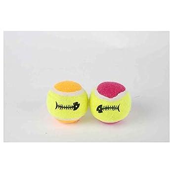 Animalis - Jouet Mini Balles Tennis pour Chat - x2