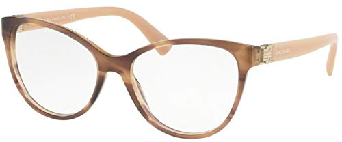 Bulgari 0BV 4151 5240 52 Gafas de sol, Marrón (Striped Brown), Mujer