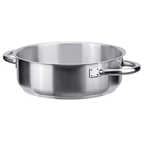 PIAZZA Casseruola Bassa in Acciaio Inox - Collezione Chef - Diametro 36Cm