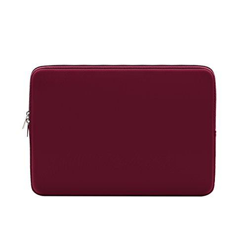 RAINYEAR 14 Inch Laptop Sleeve Case Protective Soft Padded Zipper Cover Carrying Computer Bag Compatible with 14' Notebook Chromebook Tablet Ultrabook (Red)