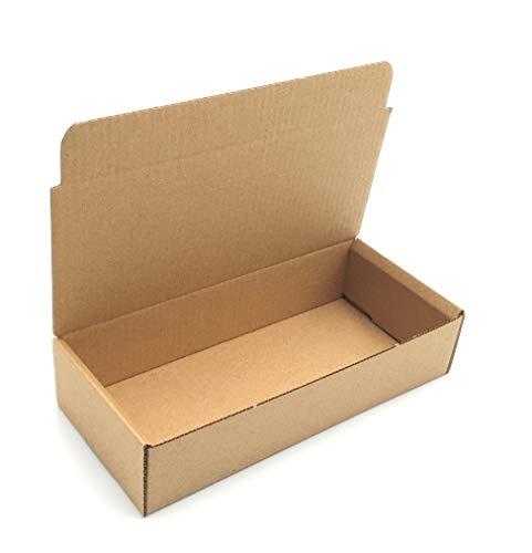 Pack 50 cajas | cartón pequeñas, para envíos ecommerce automontables kraft, paqueteria, almacenaje , packaging, regalos, envio postal, Ideal ecomerce. (18 x 8 x 4cm, Pack 50 cajas)