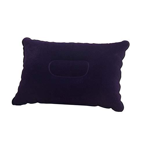 Squarex piazza portatile pieghevole Air cuscino gonfiabile doppio floccato cuscino, Dark Blue, 34.5x24cm