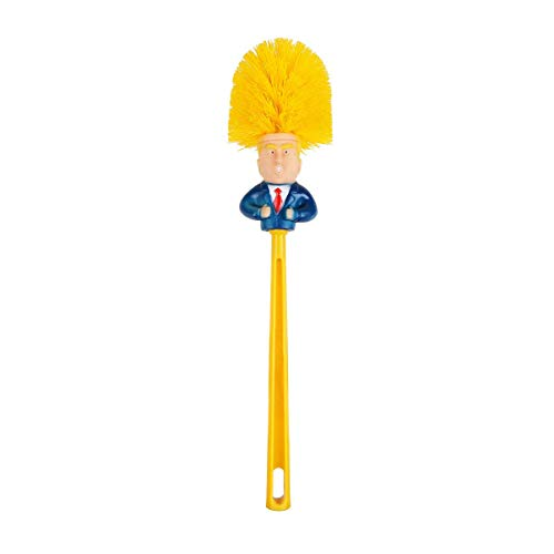 EVERMARKET Trump Toilet Brush, Original Donald Trump Toilet Brush Cleaner, Funny Toilet Scubber,Make Toilet Great Again, Commander in Crap (Trump Toilet Brush)
