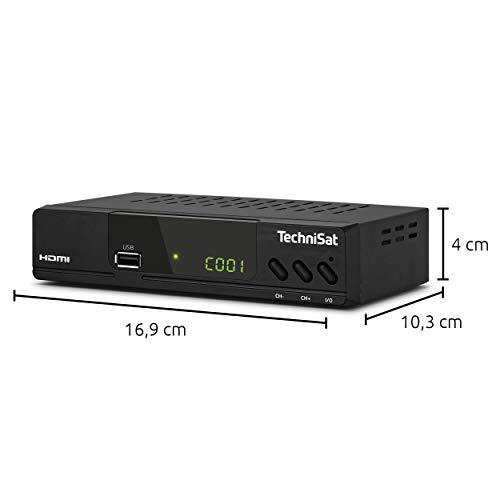 TechniSat HD-C 232 - HD-Receiver für digitales Kabelfernsehen (HDTV, DVB-C, HDMI, SCART, USB 2.0, RF in, RF out, EPG, Fernbedienung ) schwarz