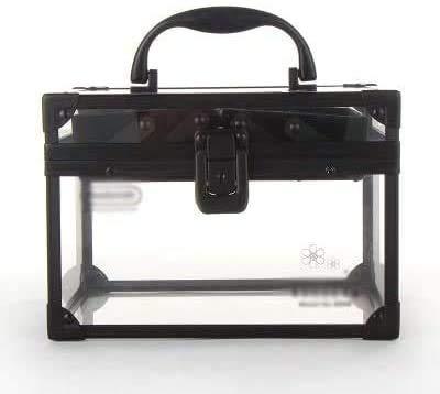 LEIXIN Bagage Portable Double verrouillables Transparent DIY Beauté Acrylique Cas cosmétique de beauté cosmétique, Vanity Organisateur cosmétiques boîte de Rangement
