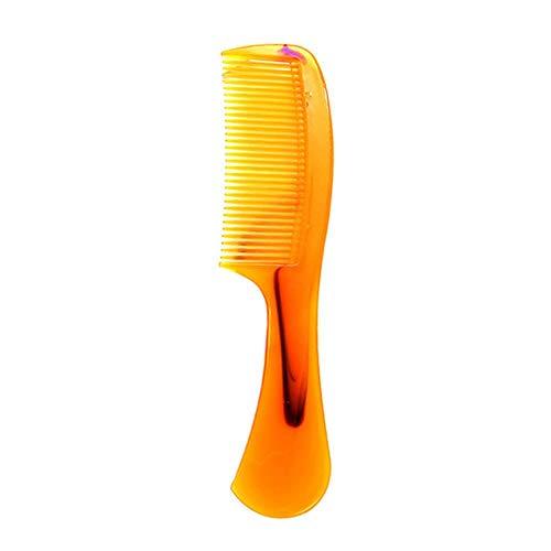 DSJ Corne Peigne à Long Manche en Plastique Corne Peigne Accessoires de Soins capillaires à Dents Fines, 1