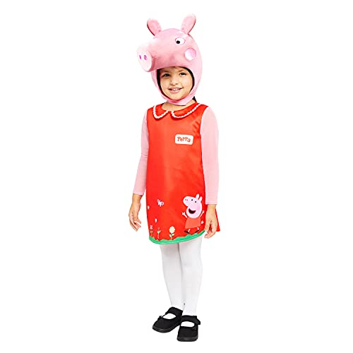 Amscan 9907548 Child Girls Official Peppa Pig Licensed Plush Head Fancy...