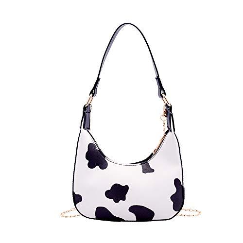 liuwei Las mujeres de moda bolso de hombro bolso de la vaca puntos PU cadena de cuero pequeño hombro cruz cuerpo bolsa Hobos Totes bolso