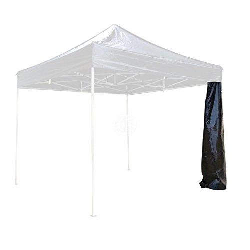Cablematic - Toile de tente latérale complète noir 450cm