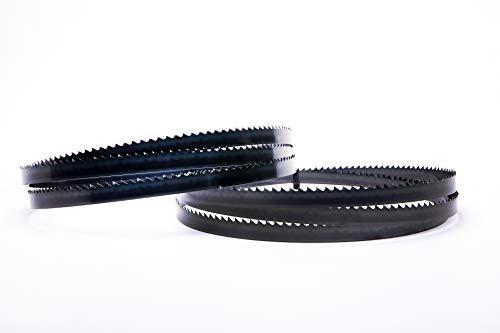Juego de 2 hojas de sierra de cinta Encut de alto rendimiento, 2240 x 16 x 0,65 mm, acero para herramientas de 4 dientes para madera, etc. para cinta de sierra Elektra Beckum Metabo Güde