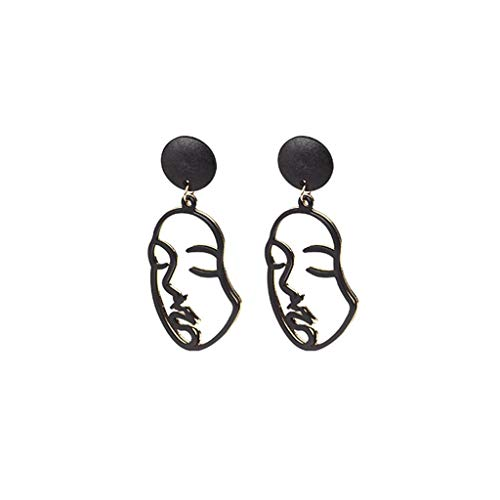 Rongzou New Abstract Face Earrings Creative Women Jewelry Fashion Gift Art Hollow Dangle