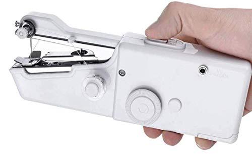 Mini Máquina de Coser Portatil, Mini Máquina de Coser Portátil Eléctrica de mano máquina de coser rápida y manejable, Adecuada para Ropa, Telas, Cortinas, Bricolaje para Viajes en Casa