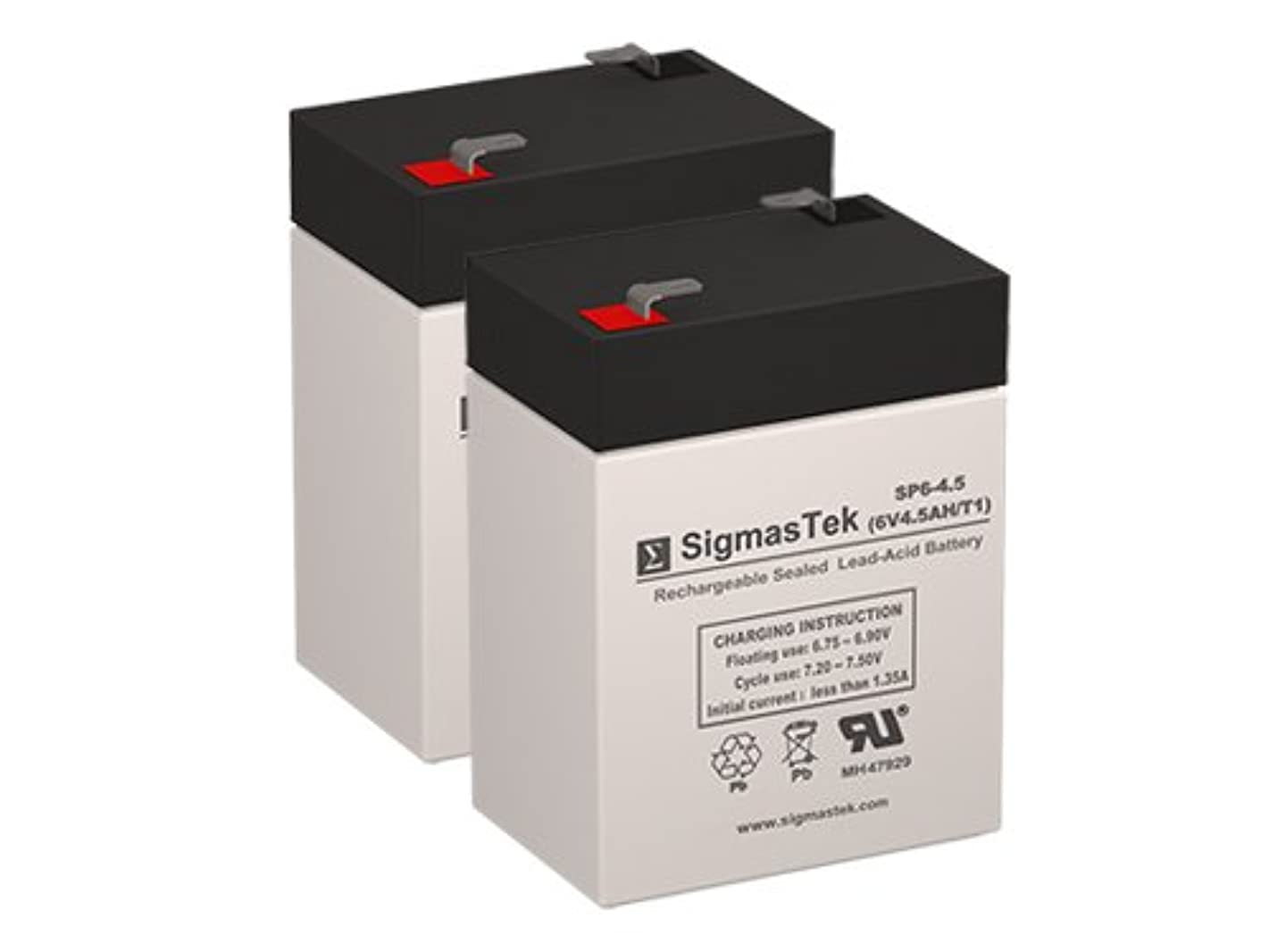 3FM4.5 6 Volt 4.5 AmpH SLA Replacement Battery with F1 Terminal