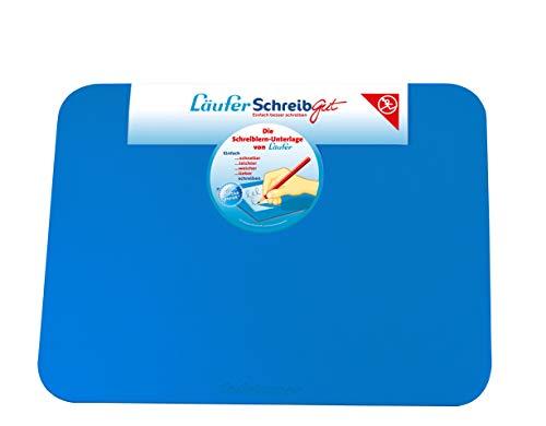Läufer 30911 SchreibGut Schreibtischunterlage zum Schreiben lernen, für den perfekten Schulanfang, verschiedene Farben, 33,5 x 45 cm, blau