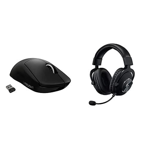 Logitech G Pro X Superlight Souris Gaming sans Fil + Logitech G Pro X Casque Gaming Over-Ear avec Micro Blue VO!CE