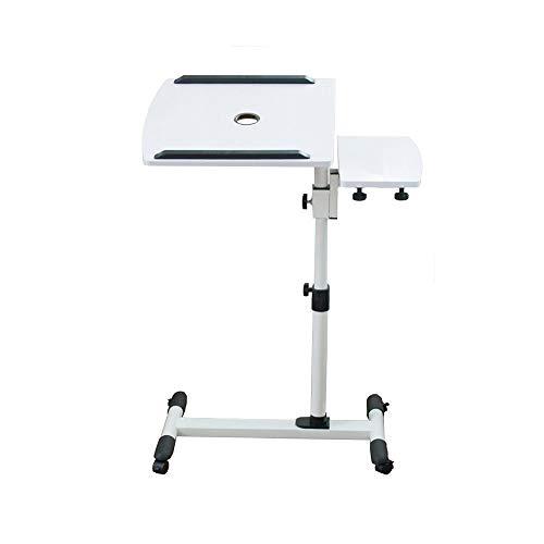 HPLL Portatile Tavolo Laptop Tavolo Scrivania per Laptop, Altezza Regolabile Carrello per Laptop Con Ventola Puleggia di Bloccaggio per Tavolino Da Gioco Comodino Inclinazione di 180 °, Rotazione di 3