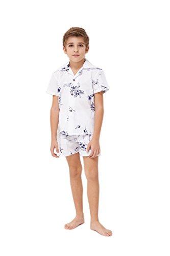 Hawaii Hangover Chico Joven Adulto Camisa de Aloha Luau Camisa de Navidad en Blanco Mapa clásico 14 años