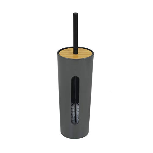 レックKIWAMIトイレブラシケース付き(グレー)パナソニック・アラウーノ対応高級和テイストB00216