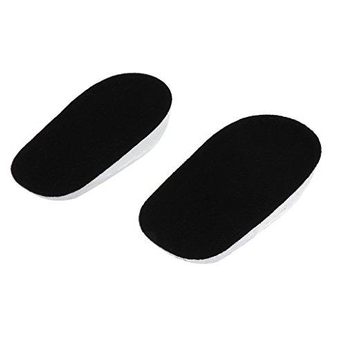 perfk Erhöhte Einlegesohlen Heel Schuheinsätze Heel Kissen Einsätze für Schuhe - Schwarz, 1cm
