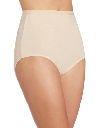 Bali Women's Stretch Brief Panty, Soft Taupe, Large/7