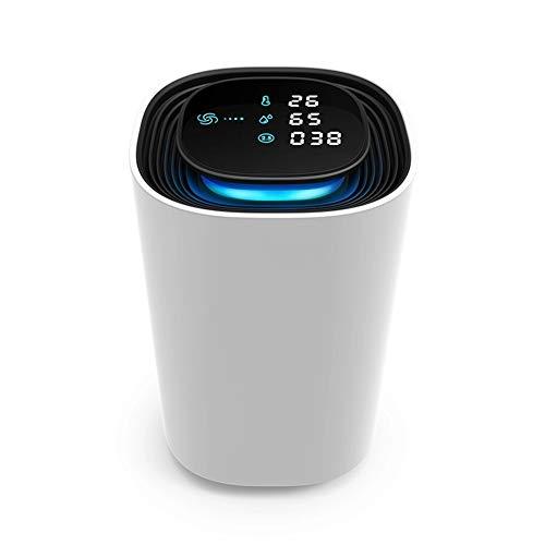 Op Het Voertuig Gemonteerde Intelligente Negatieve Ionen Luchtreiniger, Opladen Via USB Is Geschikt Voor Slaapkamer, Desktop, Kantoor Luchtreiniger,White