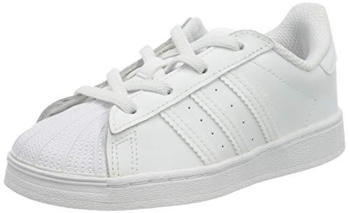 adidas Superstar EL, Sneaker Unisex bebé, Footwear White/Footwear White/Footwear White, 26 EU