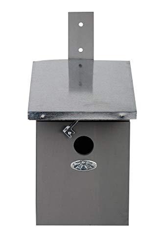 Esschert Design NK40G Kohlmeisen Nistkasten, grau