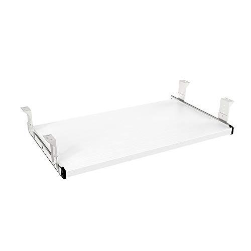 FRMSAET Möbler Tillbehör Kontorsprodukter Kostymer Hårdvara 53cm / 60cm / 76cm Tangentbordslåda Trähållare under skrivbord Justerbar höjdplattform. (60cm, Vit)
