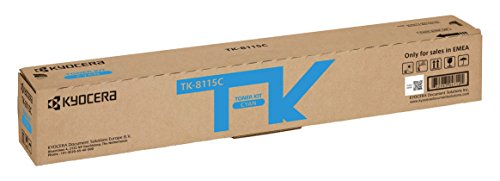 Kyocera TK-8115C Cartucho de tóner Cian 1T02P3CNL0 para ECOSYS M8124cidn, ECOSYS M8130cidn